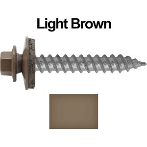 "12X1-1/2"" Metal Roofing Screw (LIGHT BROWN)"