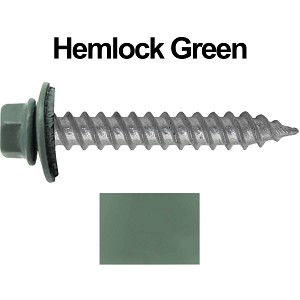 "12x1-1/2"" Metal Roofing Screw (HEMLOCK GREEN)"