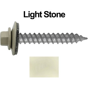 "12x1-1/2"" Metal Roofing Screw (LIGHT STONE)"