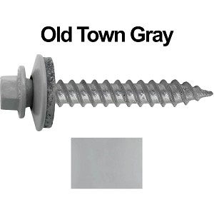 "12x1-1/2"" Metal Roofing Screw (OLD TOWN GRAY)"