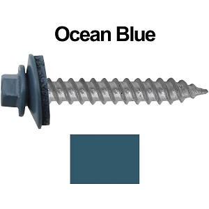 "12x1-1/2"" Metal Roofing Screw (OCEAN BLUE)"