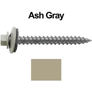 "12x2"" Metal Roofing Screw (ASH GRAY)"