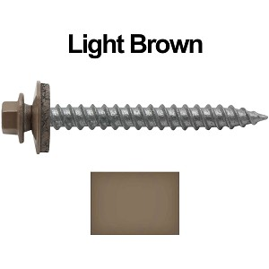 "12x2"" Metal Roofing Screw (LIGHT BROWN)"