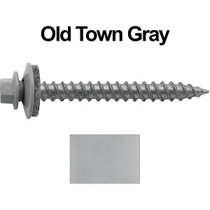 "12x2"" Metal Roofing Screw (OLD TOWN GRAY)"