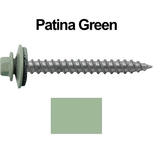 "12x2"" Metal Roofing Screw (PATINA GREEN)"