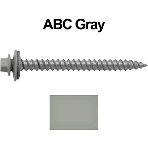 "12X2-1/2"" Metal Roofing Screws (ABC GRAY)"