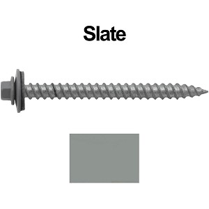 "12X2-1/2"" Metal Roofing Screws (SLATE)"