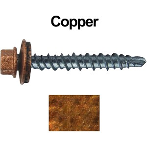 "10X1"" Metal Roofing Screws (COPPER) Mini Driller"