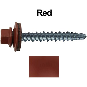 "10X1"" Metal Roofing Screws (RED) Mini Driller"