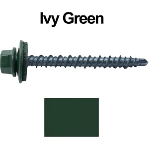"10X2"" Metal Roofing Screws (IVY GREEN) Mini Driller"