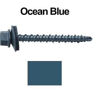 "10X2"" Metal Roofing Screws (OCEAN BLUE) Mini Driller"