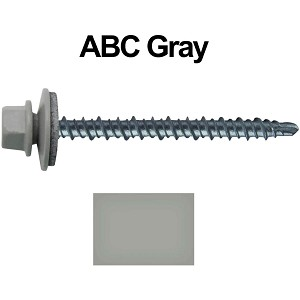 "10X2-1/2"" Metal Roofing Screws (ABC GRAY) Mini Driller"