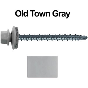 "10X2-1/2"" Metal Roofing Screws (OLD TOWN GRAY) Mini Driller"