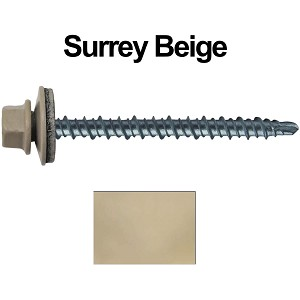 "10X2-1/2"" Metal Roofing Screws (SURREY BEIGE) Mini Driller"