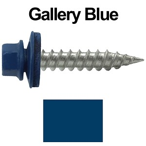 "9 x 1"" Stainless Steel Metal Roofing Screws (GALLERY BLUE)"