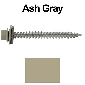 "9 x 2"" Stainless Steel Metal Roofing Screws (ASH GRAY)"