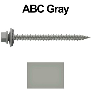 "9 x 2-1/2"" Stainless Steel Metal Roofing Screws (ABC GRAY)"