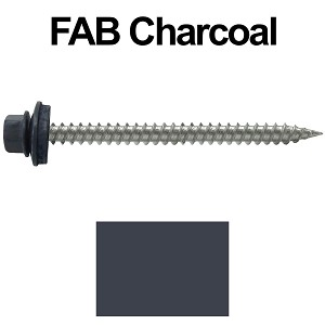 "9 x 2-1/2"" Stainless Steel Metal Roofing Screws (FAB. CHARCOAL)"