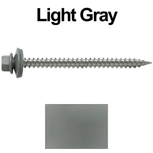 "9 x 2-1/2"" Stainless Steel Metal Roofing Screws (LIGHT GRAY)"