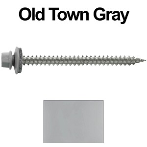 "9 x 2-1/2"" Stainless Steel Metal Roofing Screws (OLD TOWN GRAY)"