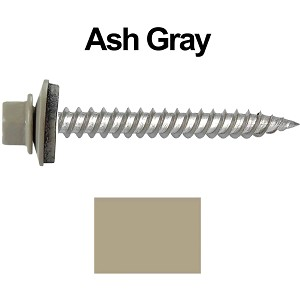 "12 x 2"" Stainless Steel Metal Roofing Screws (ASH GRAY)"