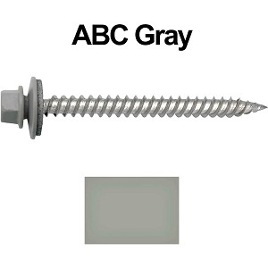 "12 x 2-1/2"" Stainless Steel Metal Roofing Screws (ABC GRAY)"