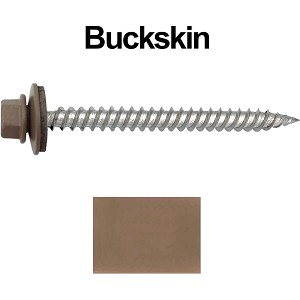 "12 x 2-1/2"" Stainless Steel Metal Roofing Screws (BUCKSKIN)"