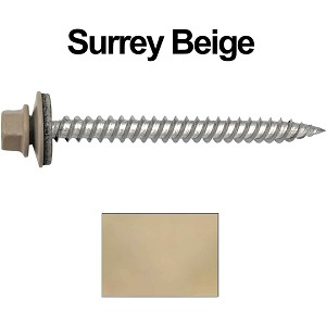 "12 x 2-1/2"" Stainless Steel Metal Roofing Screws (SURREY BEIGE)"