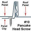 "10x2"" Pancake Low Profile Metal to Wood Roofing Screw"